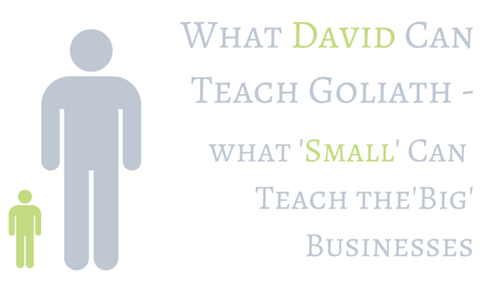 What David Can Teach Goliath – what 'small' can teach the 'big' businesses